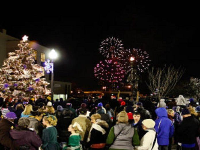 Fireworks in winter festival