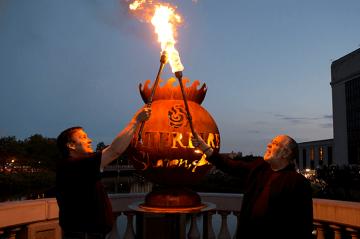 WaterFire Torch Lighting